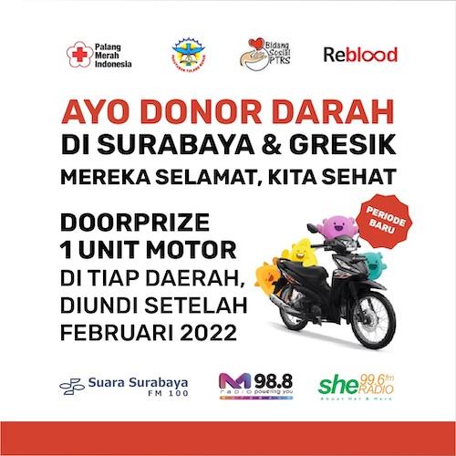 Undian Motor PTRS hingga Februari 2022 di Surabaya dan Gresik