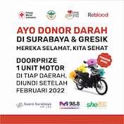 Program Undian Motor untuk Pendonor Surabaya & Gresik hingga Februari 2022
